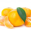Fresh orange mandarins - Stock Photo