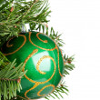 Stock Photo: Christmas ball on fir-tree