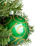 Christmas ball on fir-tree — Stock Photo