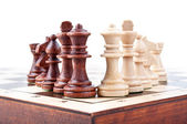 Chess pieces isolated — Stock Photo