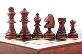 Wood chess pieces — Stock fotografie