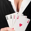 Four poker aces — Stock Photo #9353506