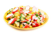 Salad isolated — Stock Photo