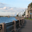 The quay of Neva river — Stock Photo