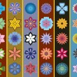Royalty-Free Stock : A set of stylized flowers. Seamless background