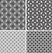 Black and white ornamental seamless pattern. Vector background — Stock Vector
