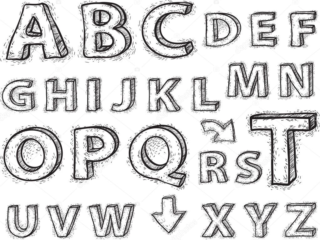 Printables Drawing Letters drawing letters of the alphabet scalien scalien