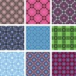 Vector seamless patterns. set — Stock vektor #8551922