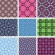 Royalty-Free Stock Vector Image: Vector seamless patterns. set