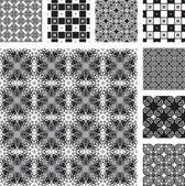 Siyah ve beyaz dekora sorunsuz bir dizi — Stok Vektör