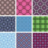 Vector seamless patterns. set — Stock Vector