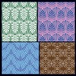 A set of seamless patterns. variants of textures — Stock vektor