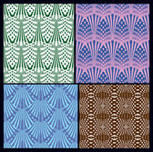 A set of seamless patterns. variants of textures — Stock Vector