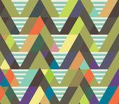 Géométrique décoratif fond sans couture. son pelage rayé — Vecteur