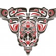 Haida style tattoo design — Stock vektor