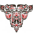 Haida style tattoo design — Stockvectorbeeld