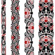 Haida style seamless pattern - Image vectorielle