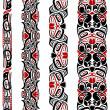 Haida style seamless pattern — Stock Vector