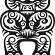 Taniwha (Tiki) tattoo design — Stock Vector