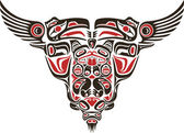 Haida style tattoo design — Vector de stock
