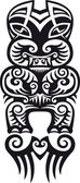 Taniwha (Tiki) tattoo design — Stock Vector