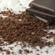 Stock Photo: Grated chocolate