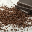 Grated chocolate - Stock Photo