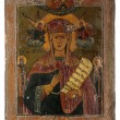 Antique orthodox icon - Stock Photo
