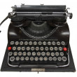 Antique portable typewriter — Stock Photo