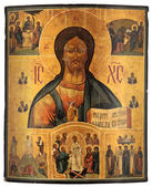 Antique orthodox icon — Stock Photo