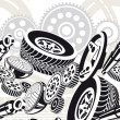 Royalty-Free Stock Vector Image: Car parts seamless pattern