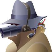 Cara de espía — Vector de stock