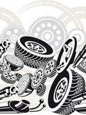 Car parts seamless pattern — Stock Vector