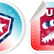 Stickers label set Made in USA — Stock Vector