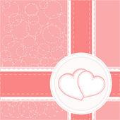 Corazón de san valentín fondo de vector de tarjetas de boda — Vector de stock