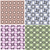 Abstract seamless pattern, vector background set — Stock Vector