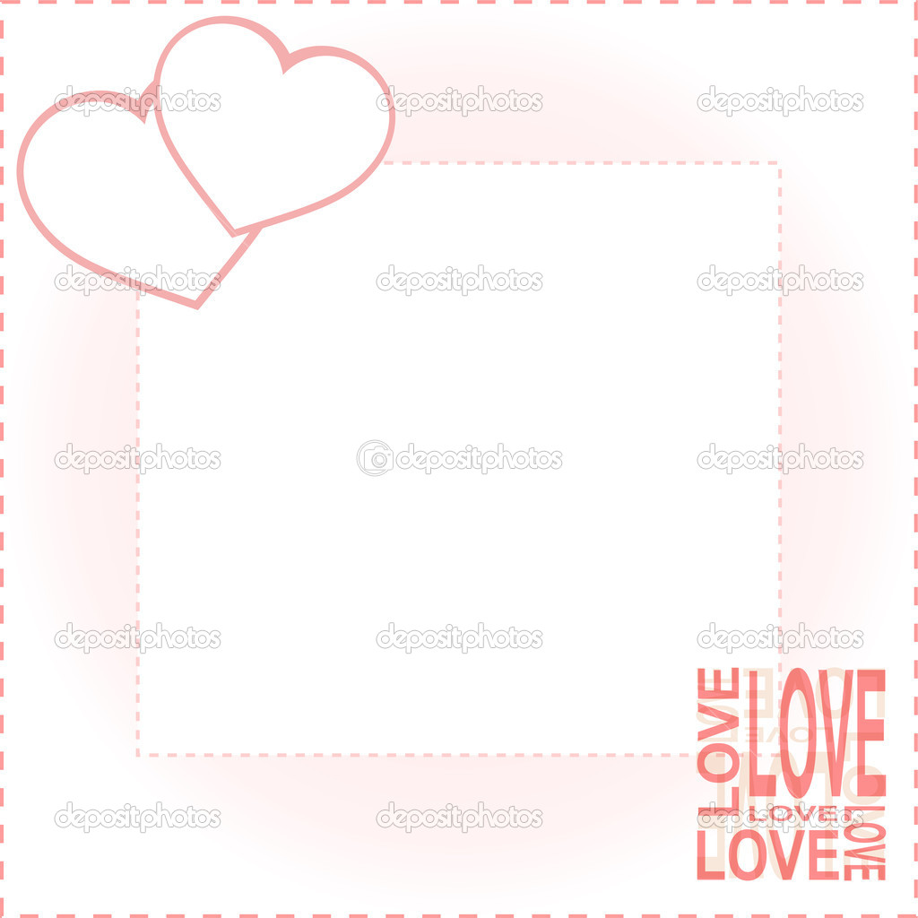 Valentine Day card with two love hearts — Stock Vector #10076074