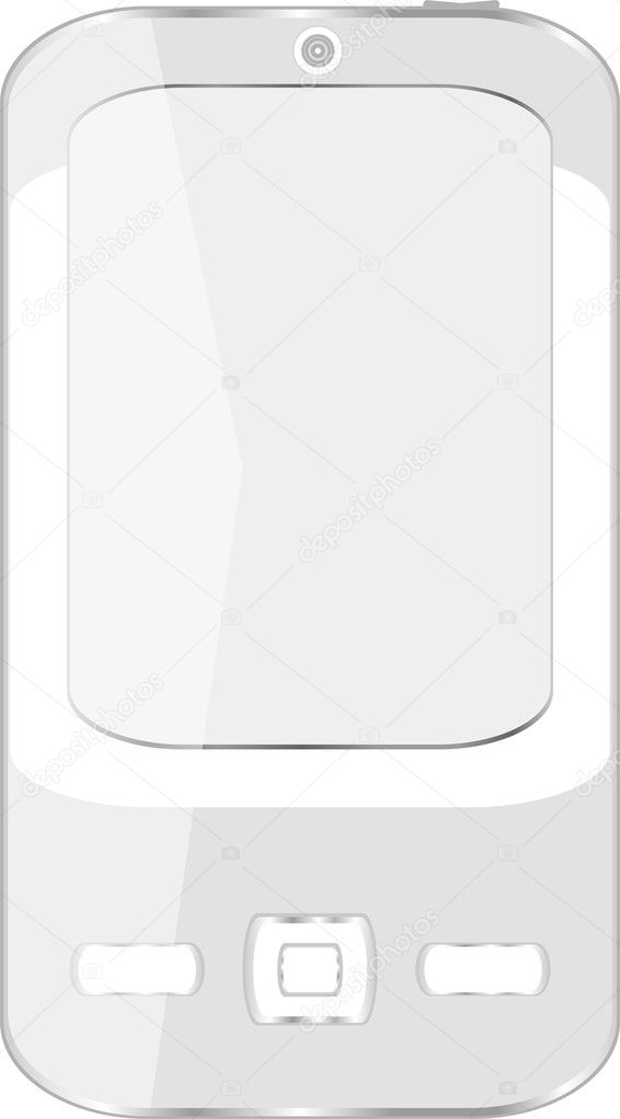 Vector cell smart mobile smart phone isolated on white — Stock Vector #10076156