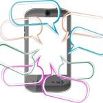 telefone inteligente móvel moderno. envio de mensagens sms — Vetorial Stock