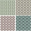 Morocco Seamless Patterns Background Set — Stock Vector