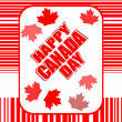 Happy Canada Day card in vector — Stock Vector