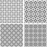 conjunto de texturas árabe metal transparente. diseño vintage — Vector de stock