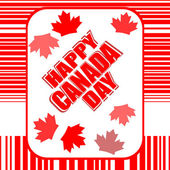 Happy Canada Day card in vector — Stockvektor