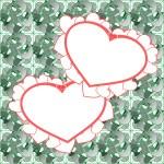 Two heart background vector design — Stock Vector #10192548