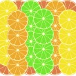Citrus fruits vector pattern background - Stock Vector