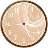 Wall retro wood clock — Stock Vector