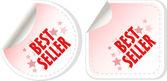 Best seller red stickers set. vector — Stock Vector