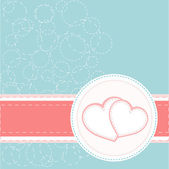 Two symbols of loving valentines hearts — Stock Vector