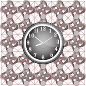 Abstract background pattern with modern wall clock — Stock Vector