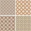 Seamless patterns in islamic style. Vector set — Stock Vector